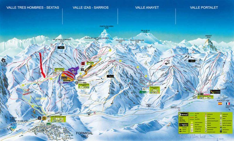 Pyrenean ski slopes