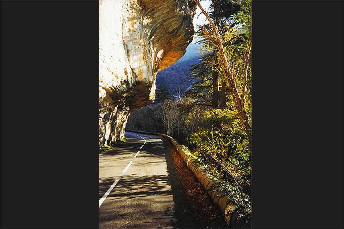 Road under cliff